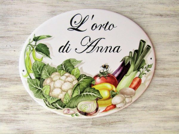 vegetables hand painted kitchen sign
