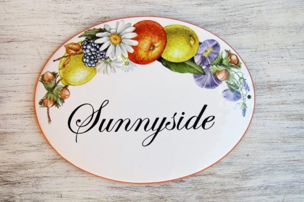floral decor personalized house name sign