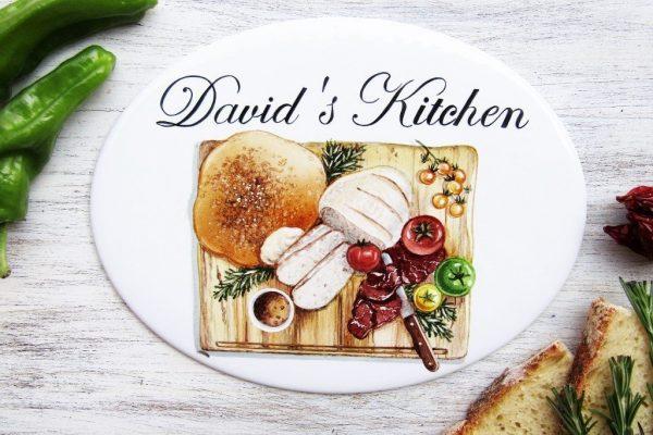 chopping board custom kitchen sign