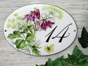 columbine house number plaque