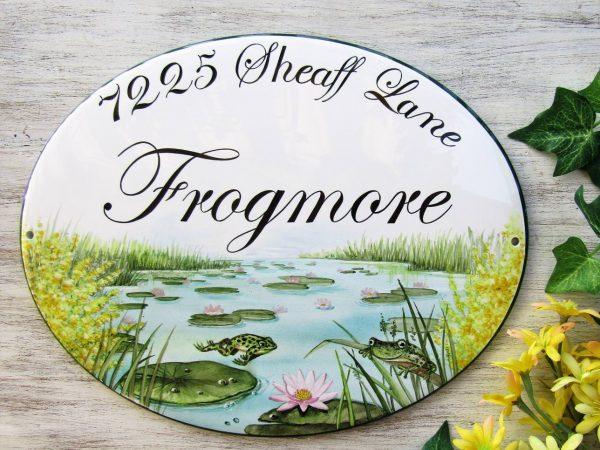 frog pond address sign