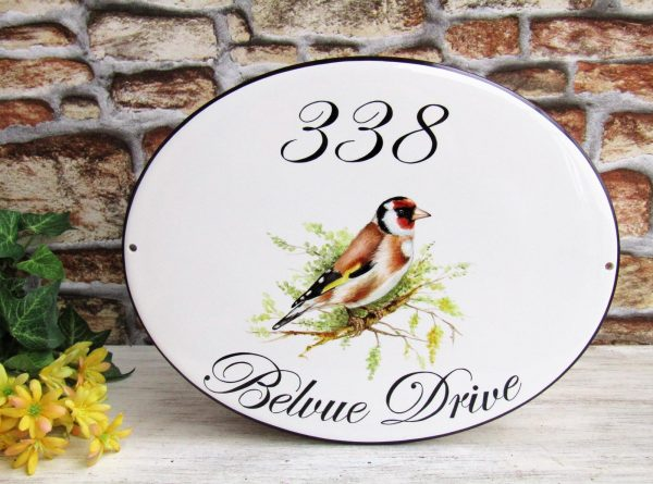 goldfinch custom house sign