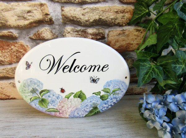 hydrangea custom welcome sign