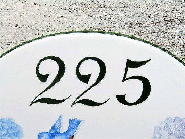 Little Bird House Number Plaque detail