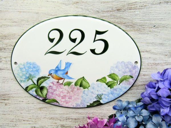 Little Bird House Number Plaque