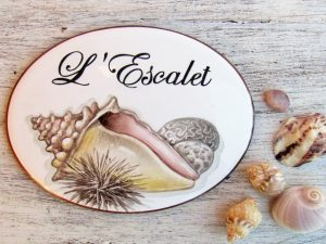 custom sea shell sign