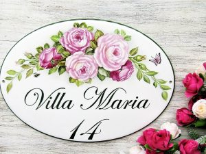 rose decor house sign