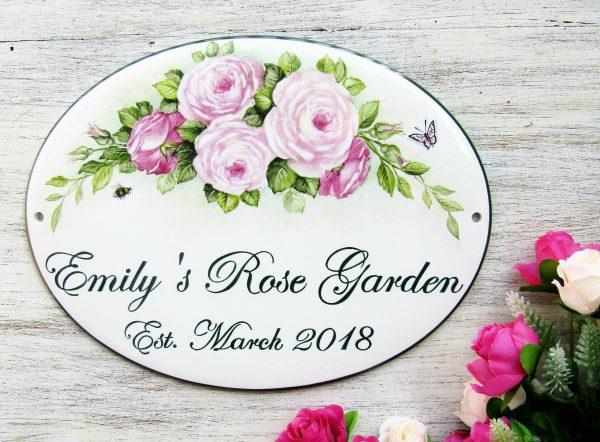 custom rose garden sign