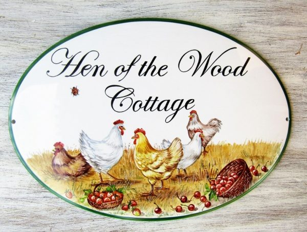 custom rustic cottage sign