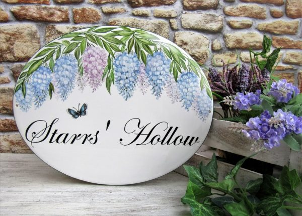 wisteria personalized welcome sign